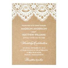 Rustic Lace Wedding Invitation  #rusticweddinginvitations #rusticweddinginspiration  #laceweddinginvitations