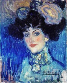Pablo Picasso (1881-1973) Woman in a Plumed Hat 1901. I have never seen this one, love it!