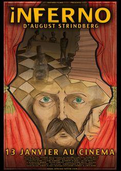 INFERNO D'AUGUST STRINDBERG. Sortant bouleversé d'un divorce, dans une situation financière plus que précaire, l'auteur August Strindberg est atteint d'hallucinations qui lui paraissent guider sa destinée. Résidant à l'hôtel Orfila à Paris, il voit apparaître ses cauchemars lucides alors qu'il manipule des produits chimiques hautement toxiques (dans le but de changer le souffre en or) et qu'il abuse de l'absinthe.