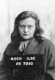 "Ilse Koch (1906-1967) known as the ""Bitch of Buchenwald"".  Koch was married to Karl Koch, the commandant of the Buchenwald concentration camp. Drunk on the absolute power rendered by her husband, she reveled in torture and obscenity.  She enjoyed riding through the camp where she selected prisoners who displeased her to be whipped by Schutz Staffeinel (SS) guards. She also collected lampshades and gloves made from tattooed skins of specially murdered concentration camp inmates."