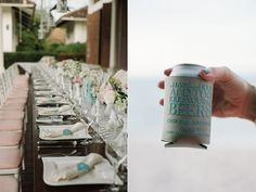 beer cosy wedding favour