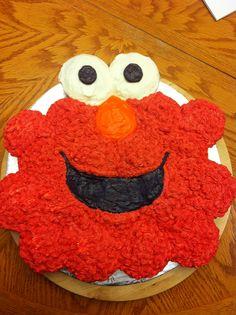 Elmo Pull Apart Cupcake Cake