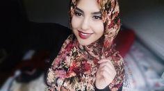 Divinity Black Maroon Cream Hijab