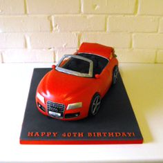 Audi A5 Convertible 40th Birthday Cake with Haribo Sweets