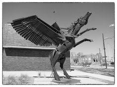 Pegasus & Plane - Dallas, TX, via Flickr.