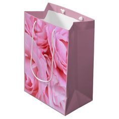 Beautiful personalized pink roses gift bag