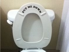 Put Me Down Bathroom wall art decal sticker funny kids potty training reminder: Automotive