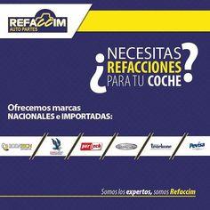 ¿Necesitas refacciones para tu #coche? Ofrecemos marcas nacionales e importadas: Rodatech, Eagle, Partech, Shark, Trackone y Previsa. #Coahuila #Mexico #Automotriz #Saltillo #Refacciones #Autopartes #Torreon #MX #Coches #Automoviles #Vehiculos #InstaAuto