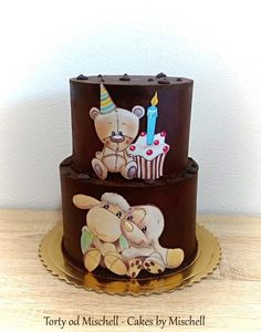 Hand painted childrens cake  by Mischell