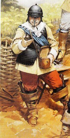 Dismounted Cavalryman, with Grenade, English Civil War