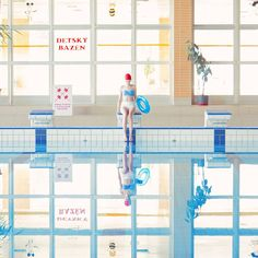 maria svarbova's swimming pool series freezes retro-futuristic scenes in etherial tranquility Levitation Photography, Abstract Photography, Pool Fotografie, Swimming Pool Photography, Amsterdam Photography, Swiming Pool, Keep Swimming, Poster Series, Retro Futuristic