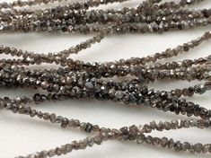 Brown Rough Rondelle Diamond Chip Beads 4 by gemsforjewels on Etsy