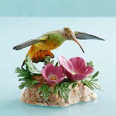 LENOX Figurines: Birds - Buff-bellied Hummingbird Figurine
