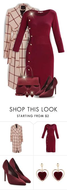 """""""Burgundy Dress"""" by kiki-bi ❤ liked on Polyvore featuring River Island and Victoria Beckham"""