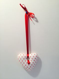 Red printed padded heart