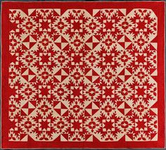 c.1880–1910  Pieced and appliquéd cotton...Collection of Joanna S. Rose
