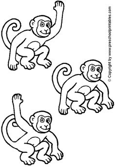 Five little monkey 39 s templates coloring pages for Felt coloring pages