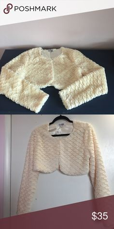 Fur Coat👀 Beautiful Sexy Fur little jacket. New no tag . Excellent to add to your sexy dress 👗 Jackets & Coats Vests