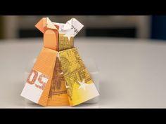Jurk vouwen van geld - Papiergeld vouwen - Geld vouwen - Knutselen - Origami - YouTube