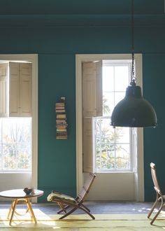 At Remodelista, we're longtime devotees of UK premium paint brand Farrow & Ball. Farrow & Ball colors are among the most complex we'v Farrow Ball, Farrow And Ball Paint, Room Colors, Paint Colors, Colours, Wall Colors, Teal Paint, Vintage Chest Of Drawers, Dreams