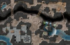The Dark Reaches Stronghold is a subterranean outpost guarding a treacherous chasm crossing.