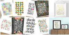 BOGO Adorable Alphabet Prints - So Many Styles!