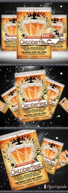 Realistic Graphic DOWNLOAD (.ai, .psd) :: http://jquery.re/pinterest-itmid-1005533950i.html ... Oktoberfest Flyer Template 3 ...  Bavarian, beer, capsule, carnaval, costume, elegant, exclusive, flyercapsule, germany, holiday, october, oktober, oktoberfest, parties, party, premium, pretzel, splash, wheat  ... Realistic Photo Graphic Print Obejct Business Web Elements Illustration Design Templates ... DOWNLOAD :: http://jquery.re/pinterest-itmid-1005533950i.html