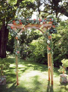 Amazing Floral Wedding Arbor Idea.!.