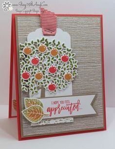 I used the Stampin' Up! Thoughtful Branches stamp set to create my card to share today. The Thoughtful Branches Bundle will be available Aug 2-31 while supplies last. The design for my card were insp