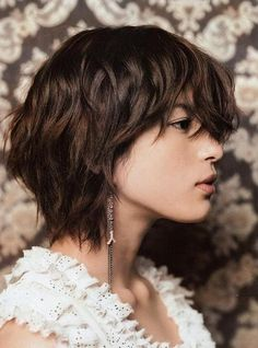 However, when you have zeroed in on the best hairstyle for a wavy hair, the effect is definitely.Listed in this article are some of the trendy hairstyles for short wavy hair. Shaggy Bob Hairstyles, Shaggy Short Hair, Short Shag Hairstyles, Short Layered Haircuts, Short Curly Hair, Hairstyles With Bangs, Trendy Hairstyles, Curly Hair Styles, Layered Hairstyles