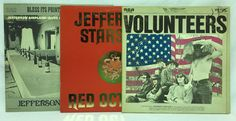 #Jefferson Airplane Starship Lot of 3 #Vinyl Record Volunteers Red Octopus Pointed