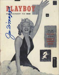 marilyn monroe dimaggio | Lot Detail - Joe DiMaggio Signed Marilyn Monroe Playboy Magazine Cover