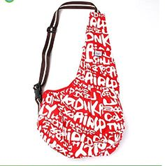 Mylovepets Slang Canvas Side Shoulder Cool Letter Print Pet Carrier Bag >>> See this great product.