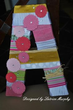 Ribbon Wrapped Letter | May Arts