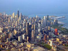 widok z samolotu przed lądowaniem Chicago - Illinois - USA #Chicago #Illinois #USA #photography #city #Polacy_w_USA #Polonia #wietrzne #miasto #windy #city