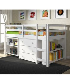 White Loft Work & Storage Bed