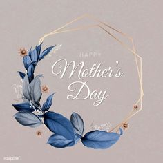 Mother's Day Card Idea - Happy mother's day floral invitation card vector - Happy Mothers Day Wishes, Happy Mothers Day Images, Happy Mother Day Quotes, Happy Mother's Day Card, Mothers Day Cards, Leaf Illustration, Wedding Frames, Floral Border, Floral Invitation
