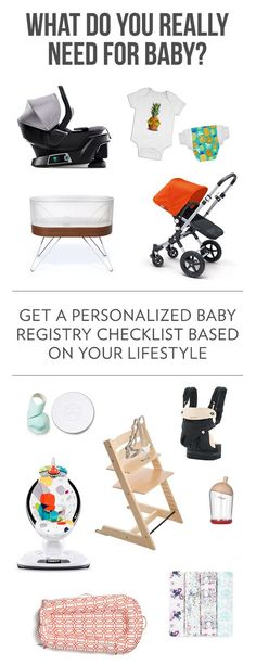 Preparing for baby? Take a lifestyle quiz to get your printable, personalized baby registry checklist. Find out what you really need, not what stores want to sell you. Baby Registry Checklist, Baby Registry Must Haves, Baby Boy, Babe, Baby Necessities, Preparing For Baby, Baby Shower, Diaper Shower, Quiz