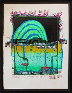 """Hundertwasser, Friedensreich 1928 Wien - 2000 an Bord der """"Queen Mary II"""" vor Neuseeland, bürgerl. — Grafik"""