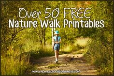 Over 50 FREE Nature Walk Printables - Homeschool Giveaways Forest School Activities, Nature Activities, Science Activities, Science Ideas, Outdoor Education, Outdoor Learning, Outdoor Play, Early Education, Nature Study