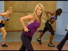 Boot Camp Cardio & Strength Workout With Denise Austin routine reminds me of the good old days of Hi-Lo Classes