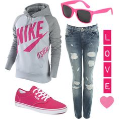 not much of a pink fan but i love this outfit!