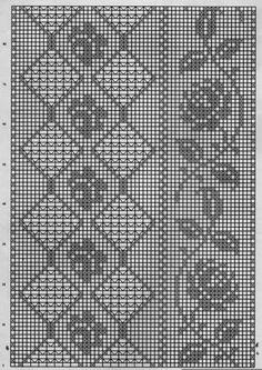 Kira scheme crochet: Scheme crochet no.Vogue Dictionary of Crochet St Filet Crochet Charts, Crochet Borders, Crochet Diagram, Crochet Motif, Crochet Designs, Crochet Doilies, Knit Crochet, Crochet Patterns, Crochet Tablecloth Pattern