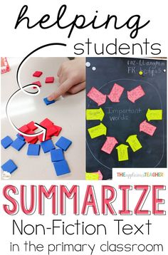 Helping students understand how to summarize text can be a struggle. These suggestions will guide your students to retell a non-fiction text in their own words. Summarizing Activities, Reading Activities, Teaching Reading, Guided Reading, Summarize Nonfiction, Reading Resources, Learning, Shared Reading, Close Reading