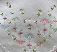 Hand Embroidery Patterns, Embroidery Applique, Cross Stitch Embroidery, Machine Embroidery, Handmade Paint, Brazilian Embroidery, Vintage Handkerchiefs, Needlework, Couture