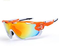 56d5d1e7dc Fashionable Sports Sunglasses with Interchangeable Lens and Case Cycling  Sunglasses