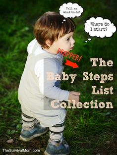 prepper baby steps http://thesurvivalmom.com/prepper-baby-steps-list-collection/