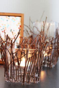 J E N N Y - H I G H S M I T H : Holiday DIY Party: Branch Candle Holder DIY