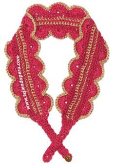 Tutorial: vincha, diadema o banda para el cabello tejido en crochet