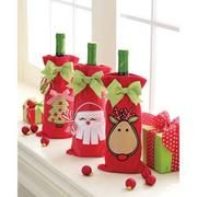 Christmas Wine Bag - Set of...